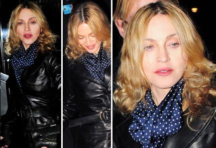 Madonna quitte le club Aura, de Londres