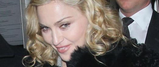 Madonna sort du restaurant Brasserie, Berlin