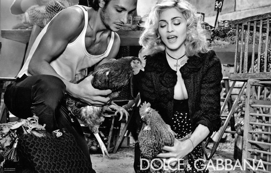 Madonna Dolce & Gabbana ad in Interview Magazine