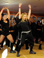 Madonna during the exclusive dance class at the Hard Candy Fitness center, Mexico 03