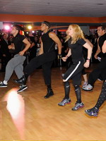 Madonna during the exclusive dance class at the Hard Candy Fitness center, Mexico 06