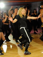 Madonna during the exclusive dance class at the Hard Candy Fitness center, Mexico 08