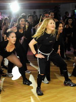 Madonna during the exclusive dance class at the Hard Candy Fitness center, Mexico 10