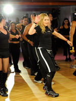 Madonna during the exclusive dance class at the Hard Candy Fitness center, Mexico 12