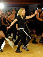 Madonna during the exclusive dance class at the Hard Candy Fitness center, Mexico 13
