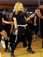 Madonna during the exclusive dance class at the Hard Candy Fitness center, Mexico 14