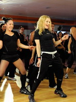 Madonna during the exclusive dance class at the Hard Candy Fitness center, Mexico 15