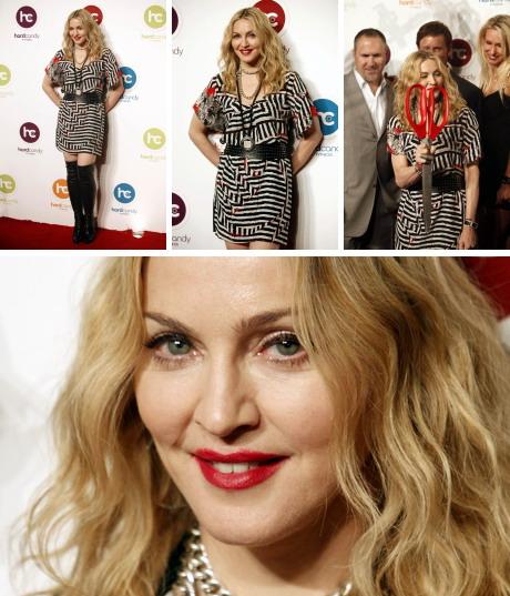 Madonna à l'inauguration du premier centre Hard Candy Fitness, Mexico