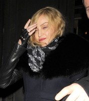 Madonna and Brahim Zaibat leaving the Wolseley Restaurant, London 04