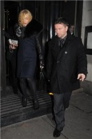 Madonna and Brahim Zaibat leaving the Wolseley Restaurant, London 37