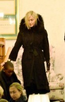 Madonna at her grandmother's vigil service, Michigan (1)