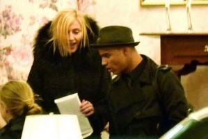 Madonna at her grandmother's vigil service, Michigan (2)