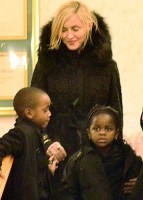 Madonna at her grandmother's vigil service, Michigan (4)