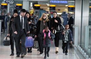Madonna arriving at Heathrow airport, London (1)