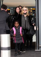 Madonna arriving at Heathrow airport, London (3)