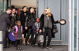 Madonna arriving at Heathrow airport, London (5)