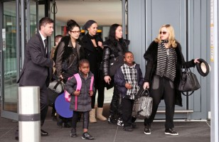 Madonna arriving at Heathrow airport, London (6)