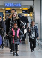 Madonna arriving at Heathrow airport, London (10)