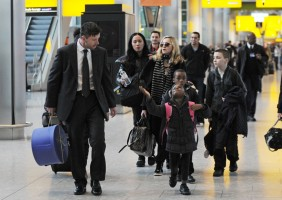Madonna arriving at Heathrow airport, London (16)