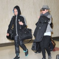 Madonna arriving at JFK airport, New York, April 12th 2011 (11)