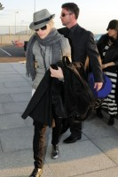 Madonna leaving London, Heathrow Airport, April 12th 2011 (4)