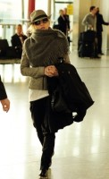 Madonna leaving London, Heathrow Airport, April 12th 2011 (15)