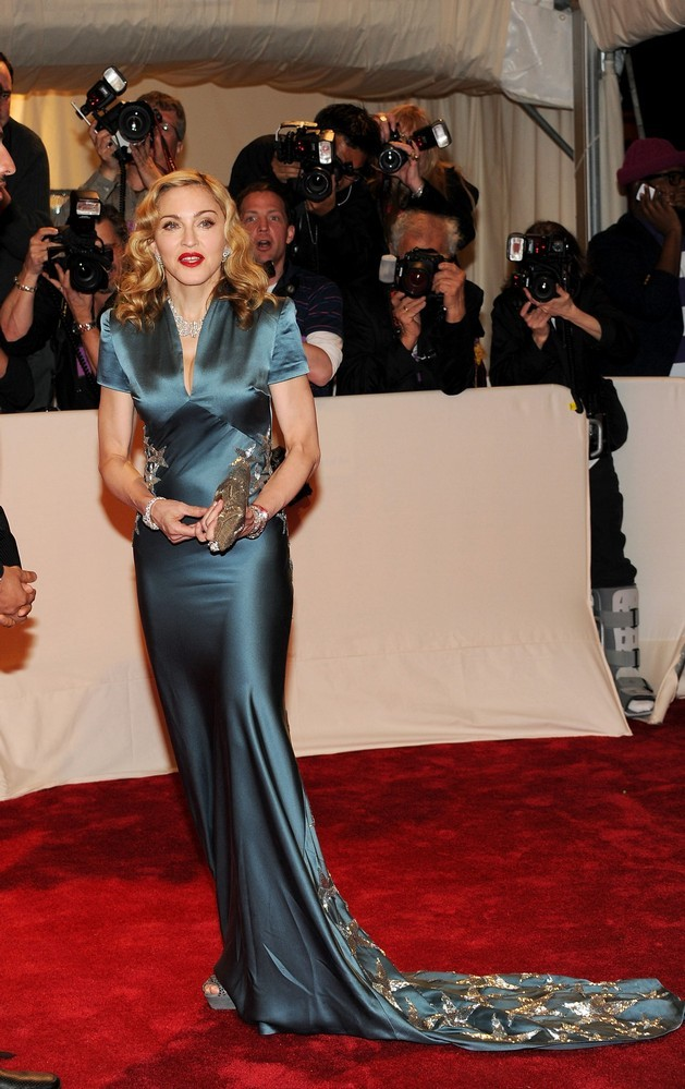 Madonna Attends The Alexander Mcqueen Savage Beauty