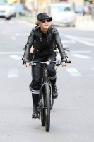 Madonna on bike in the streets of New York, May 6th 2011 (17)