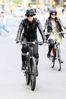 Madonna on bike in the streets of New York, May 6th 2011 (18)