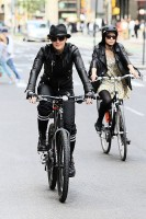 Madonna on bike in the streets of New York, May 6th 2011 (20)