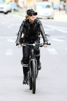 Madonna on bike in the streets of New York, May 6th 2011 (24)
