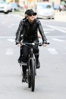 Madonna on bike in the streets of New York, May 6th 2011 (25)