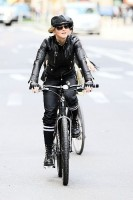 Madonna on bike in the streets of New York, May 6th 2011 (26)