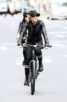 Madonna on bike in the streets of New York, May 6th 2011 (27)