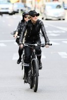 Madonna on bike in the streets of New York, May 6th 2011 (28)