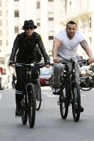 Madonna on bike in the streets of New York, May 6th 2011 (29)