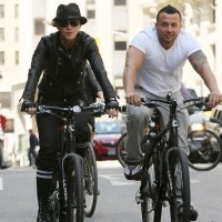 Madonna on bike in the streets of New York, May 6th 2011 (30)
