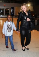 Madonna arrives at JFK airport New York - destination London (2)
