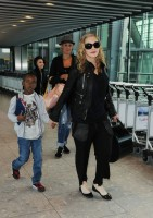 Madonna arrives at Heathrow airport, London (9)
