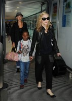 Madonna arrives at Heathrow airport, London (13)