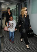 Madonna arrives at Heathrow airport, London (14)