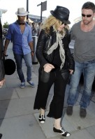Madonna arrives at St Pancras Eurostar Station, London (2)