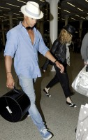 Madonna arrives at St Pancras Eurostar Station, London (4)