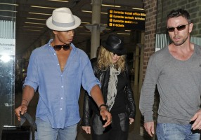Madonna arrives at St Pancras Eurostar Station, London (8)