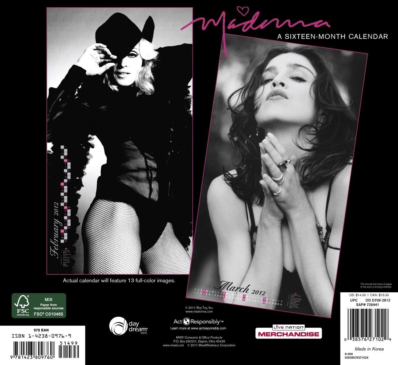 madonna naptár The official 2012 Madonna calendar [3 Exclusive HQ images   no  madonna naptár