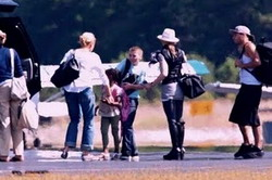 Madonna and family in the Hamptons 02