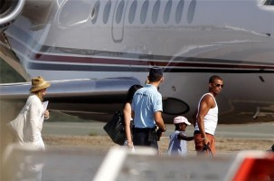 Madonna and family boarding private plane at the Biarritz airport, France (3)