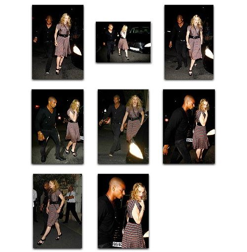 Madonna and Brahim Zaibat at Colombe d'Or Restaurant Antibes, France