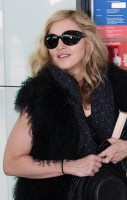 Madonna at Heathrow airport, October 24 2011 (2)