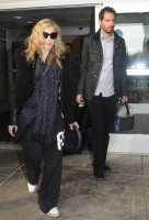 Madonna arriving at JFK airport, New York - 24 October 2011 (7)
